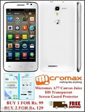 Micromax A77 Canvas Juice HD Transparent Screen Guard Protector