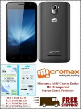 Micromax A105 Canvas Entice HD Transparent Screen Guard Protector