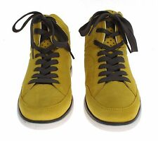 Dolce&Gabbana Yellow Suede LederHigh Top Sneaker