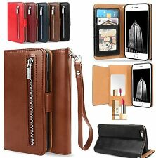 Luxury Zipper Leather Card Wallet Flip Case Cover For Apple iPhone 7 6