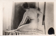 AQ323  Photo vintage anonyme femme woman nu nude artistique corps vers 1940