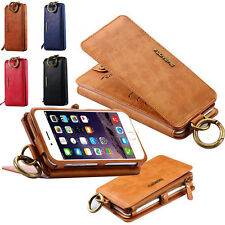 Luxury Genuine Leather Flip Wallet Phone Case Cover for iPhone 7 6S Pl
