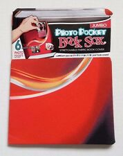 Book Sox Photo Pocket Stretchable Fabric Book Cover Red Jumbo NEW