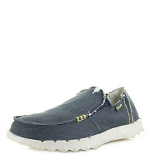 Mens Dude Shoe Farty Stretch Navy Slip On Loafers Shoes UK Size