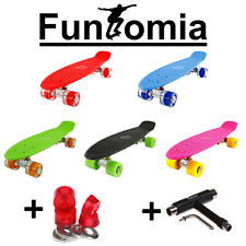Mini bordo FunTomia LED Skateboard Incrociatore tavola ABEC-11 Borsa + T-Tool+