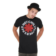 Red Hot Chili Peppers - Vintage Distressed Logo T-Shirt Black