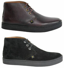 Farah Lace Up Famous Mid Top Suede Leather Shoes FAR0006