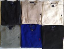 $99 NWT Mens Polo Ralph Lauren Classic Crewneck Cotton Pullover Sweater