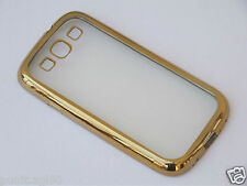 Transparent Back Cover with Colored Border for Samsung Galaxy S3 SIII i9300