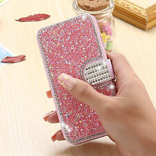 Luxury Diamond Bling Flip Leather Wallet Stand Cover Case for iPhone 6