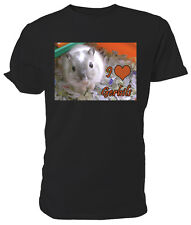 I Love Gerbils T shirt, short sleeve round neck, Choice of size & colours,