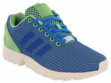 Adidas ZX Flux Weave Trainers Mens Running Sport Torsion Lace Blue Green Sneaker