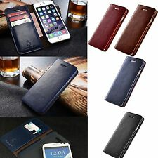 New Wallet Flip PU Leather Phone Card Case Cover For iPhone 7 Samsung