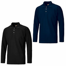 Dickies Long Sleeve Polo Shirt Durable 3 Button Work Mens T-Shirt SH21100