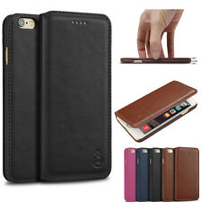 Genuine Leather Ultra Thin Flip  Magnetic Case Cover For iPhone 6 6S