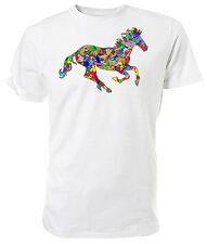 Psychedelic Horse T shirt - Choice of size & colours.