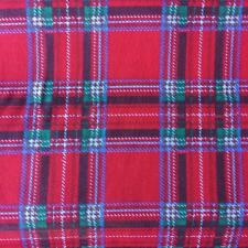 Printed poly cotton RED TARTAN 115cm poly cotton sold by the metre nursery DD