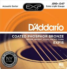 D'Addario EXP Coated Phosphor Bronze Acoustic Guitar Strings - Various Gauges