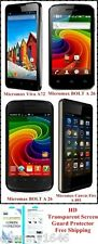 Micromax A72 A27 A26 A093 HD Transparent Screen Guard Protector - Free Shipping