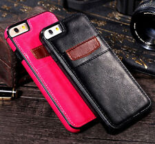 Luxury Leather Card Holder Wallet Slim Back Case Cover For iPhone 7 6