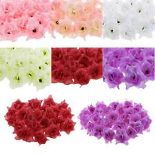 50pcs Artificial Flor de Rosa Heads Brotes Triángulo Ramo de Novia Boda Decor