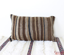Moroccan Kilim Cushion Vintage Wool Cover or Stuffed 50 cm x 30 cm VC112