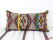 Moroccan Kilim Cushion Vintage Wool Cover or Stuffed 64 cm x 34 cm VC104