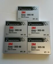 5 x Imation 3M 4mm DDS-90 Data Tape new and sealed