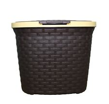 Detergent Container Box With Lid Plastic Storage Rattan Oval Shape Box Home New