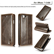 Luxury Genuine Leather Magnetic Flip Wallet Stand Case Cover For iPhon