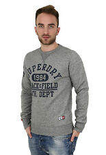 SUPERDRY Trackster Crew m20002xod5 kbz Gris Grit - Jersey - Hombre - + NUEVO + .