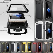 Shockproof Military Aluminum Metal Gorilla Glass Case Cover for iPhone