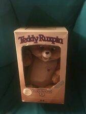 Vintage 1985 Original Teddy Ruxpin Storytelling Bear in Box w Instructions +More