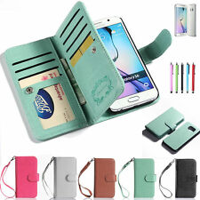 Luxury Magnetic Flip Cover Stand Wallet Leather Case For iPhone Samsun
