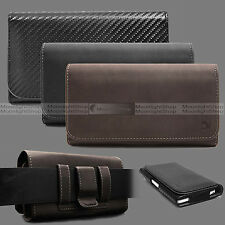 CELL PHONES HORIZONTAL CARRYING LEATHER POUCH CASE COVER WITH BELT CLI
