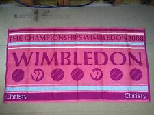 WIMBLEDON Official Ladies Championship Towel, 2008 Edition By Christy BNWT