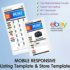 Template Ebay Store Shop Listing Auction Design Responsive Professional Html