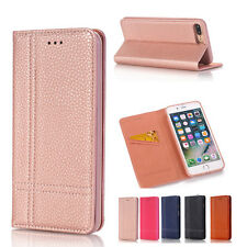 Flip Leather Magnetic Wallet Card Slot Case Cover For Apple iPhone 7 7