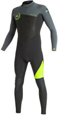 QUIKSILVER SYNCRO 3/2 GBS BACK ZIP Full Suit 2017 safety yellow