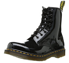 Dr. Martens Original 1460 Patent Women's Leather 8 Eye Ankle Boots Black