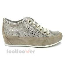 Scarpe Igi&Co Classic Sneaker Wedge 77862 00 Donna Suede Taupe Made in Italy Fas