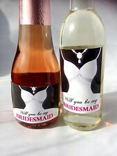 Will You be My Bridesmaid, Chief Bridesmaid, Maid of Honour Mini Bottle Labels