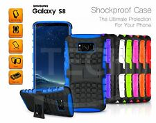 Samsung Galaxy S8 (2017) - Shockproof Tough Silicone Strong Case with Stand