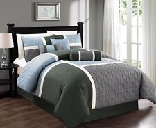 Chezmoi Collection 7-Piece Quilted Patchwork Comforter Set (Full,...