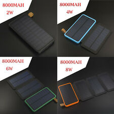 Portable 8000mAh Solar Power Bank USB Solar Battery Charger LED Camping Light