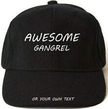 AWESOME GANGREL PERSONALISED BASEBALL CAP HAT XMAS GIFT