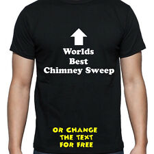 PERSONALISED WORLDS BEST CHIMNEY SWEEP T SHIRT BIRTHDAY GIFT