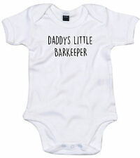 BARKEEPER BODY SUIT PERSONALISED DADDYS LITTLE BABY GROW GIFT