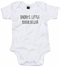 BOOKSELLER BODY SUIT PERSONALISED DADDYS LITTLE BABY GROW GIFT