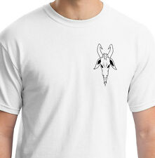 EVIL RAMS HEAD FACING FORWARDS WHITE T SHIRT ANIMAL GIFT BIRTHDAY Artiodactyla